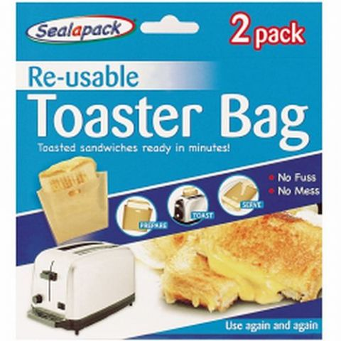 2 Reusable Toasted Sandwich Toaster Bags